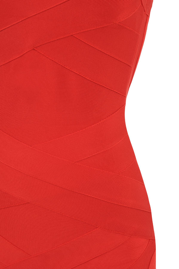 Clothing Bandage Dresses Jennifer Cross Back Red