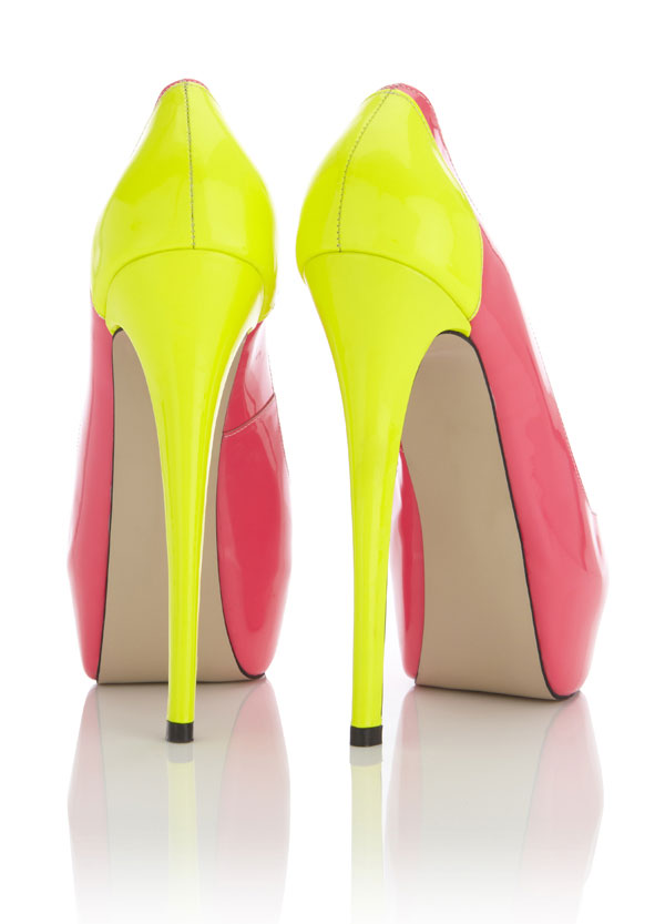 Shoes : 'Miami' Multi toned Yellow, Pink and Red Patent Leather ...