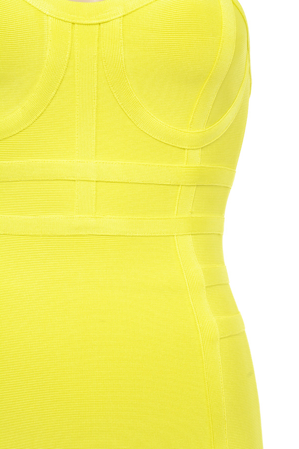 Acid yellow bandage dress