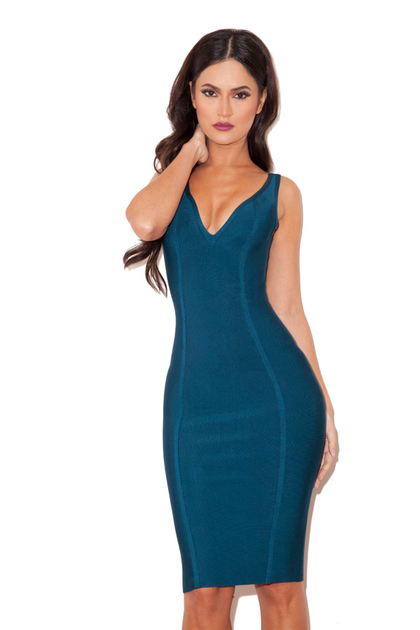 Blue Bandage Dress All Dress