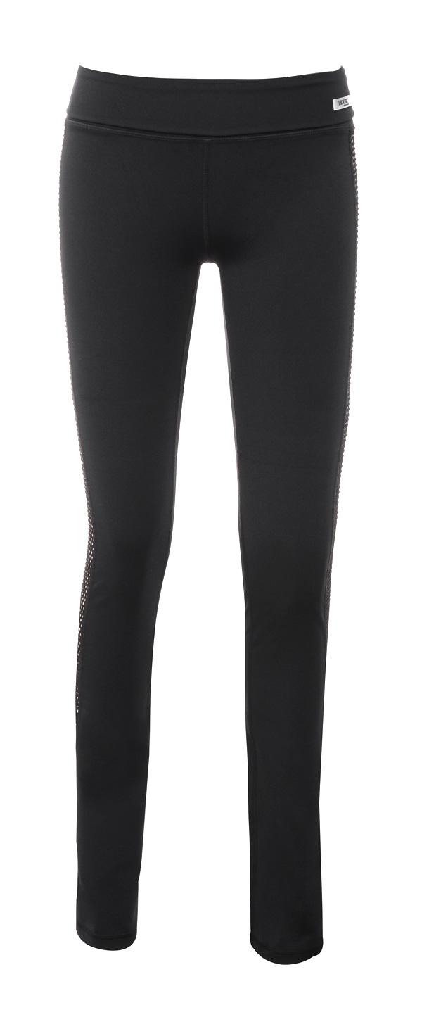 Work-Out Wear    Devi  Black Lycra and Mesh Long Workout Yoga Pants 6c39c002ab19f