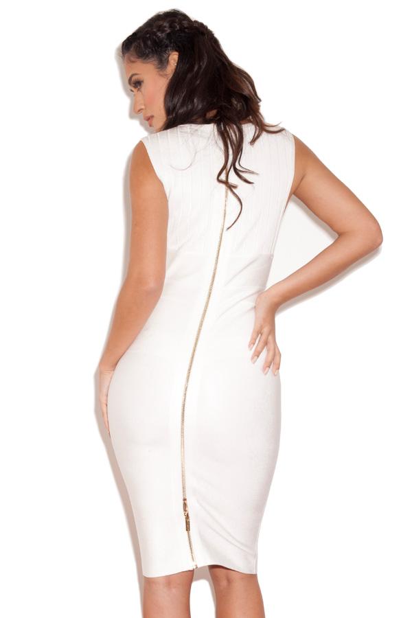32fa83678ba Maxen White Deep V Bandage Dress. View larger image. View larger image.  View larger image