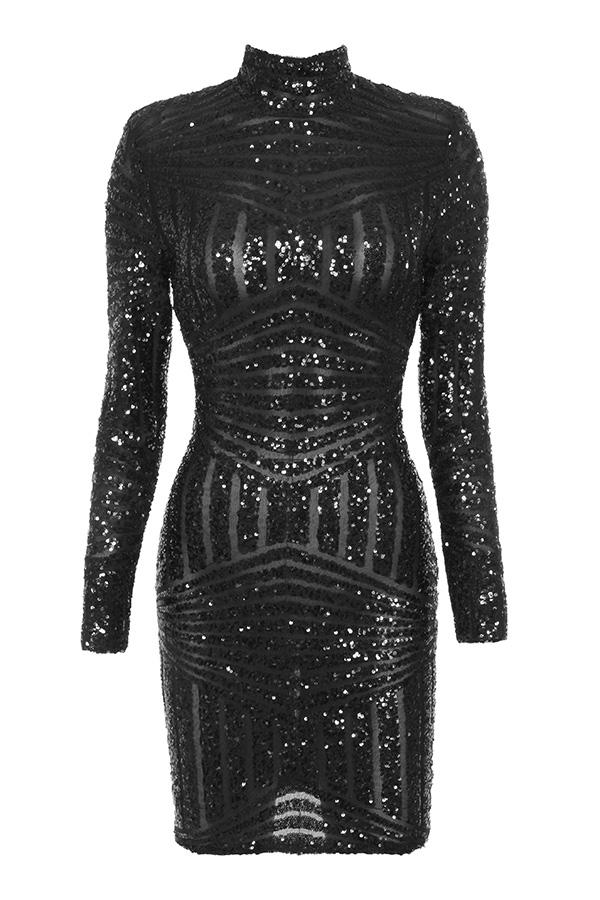 Embellishing a black dress