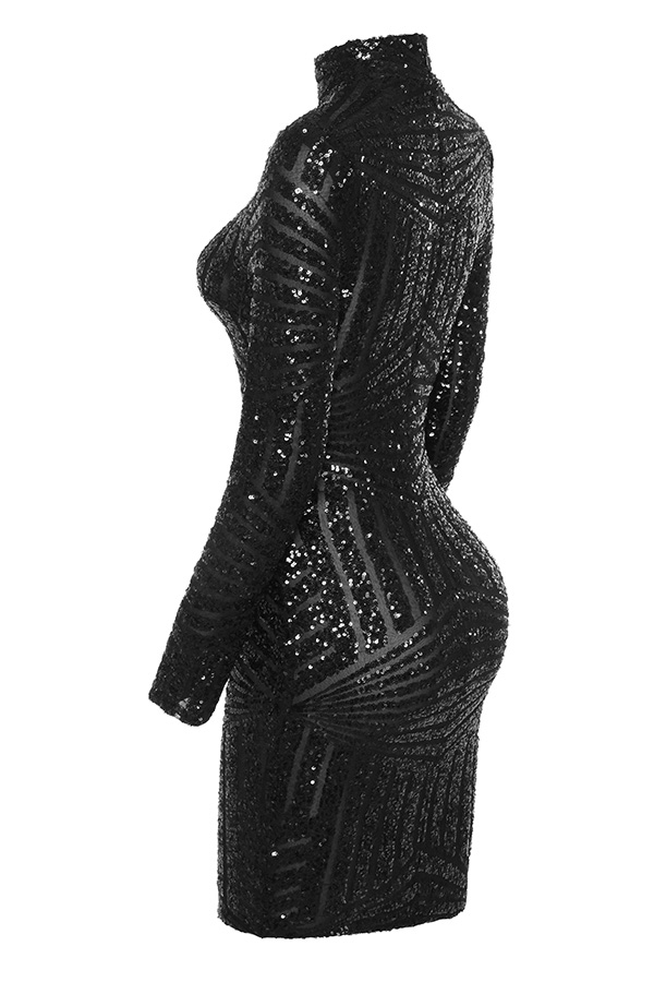 dc65bd7fde Clothing   Bodycon Dresses    Zouita  Black Embellished Glitter Dress