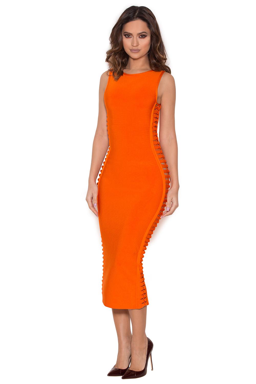 Clothing Bandage Dresses Martinique Burnt Orange