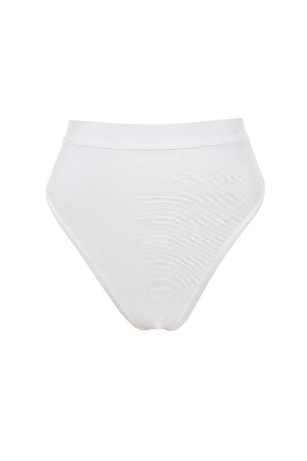 bb0adeea049 Clothing : Swimwear : 'Maryska' White Bandage Halter Bikini