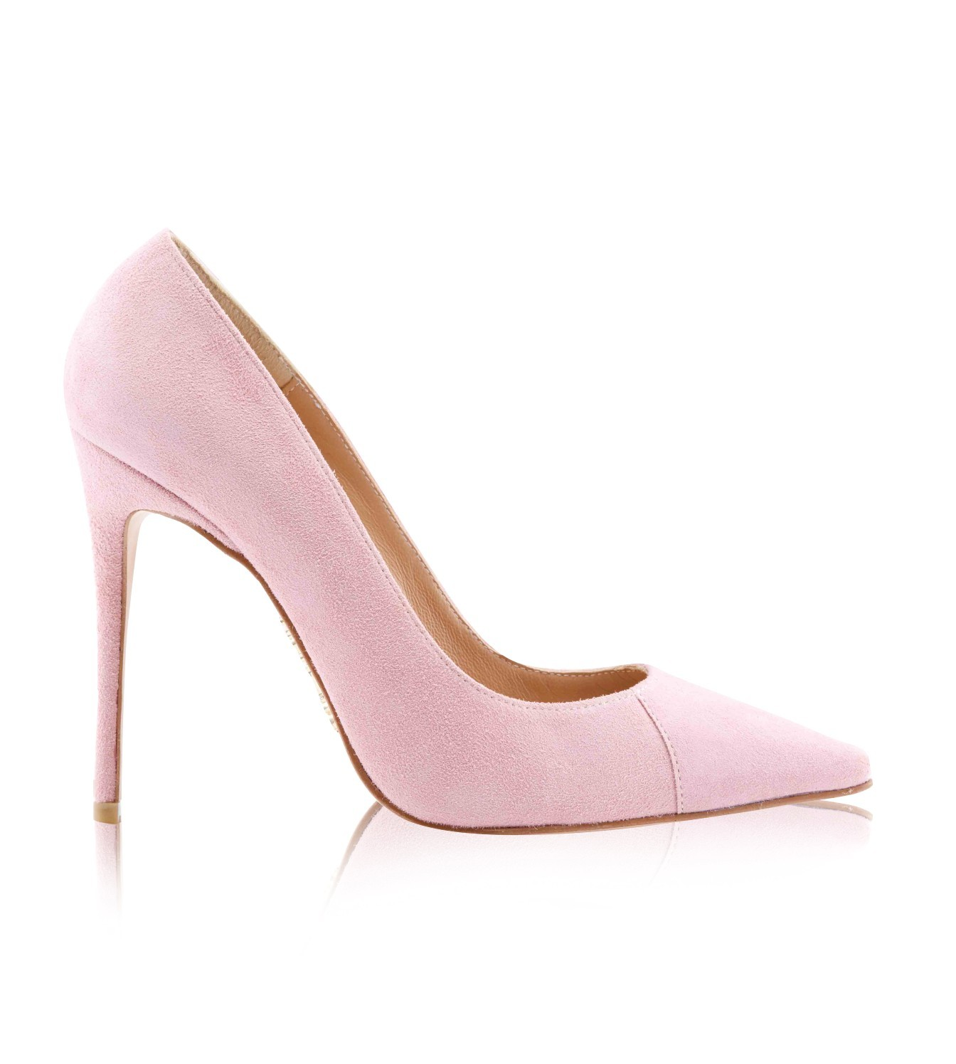 Shoes   PARIS  Suede Pink Patent Leather Pointy Toe Heels 5