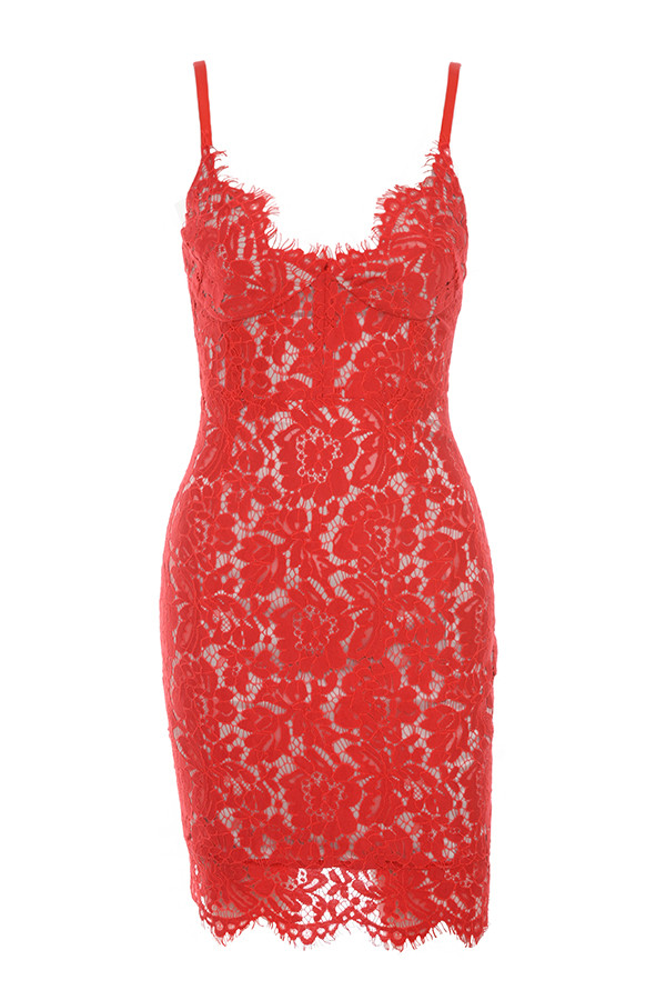 clothing bodycon dresses odelia red lace bustier dress