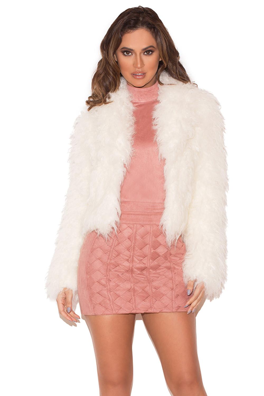 Fur coat black cheap dresses