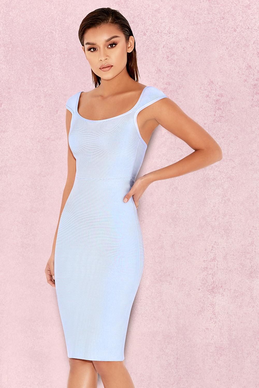 6385135ff3 Clothing : Bandage Dresses : 'Anelle' Powder Blue Bandage Dress