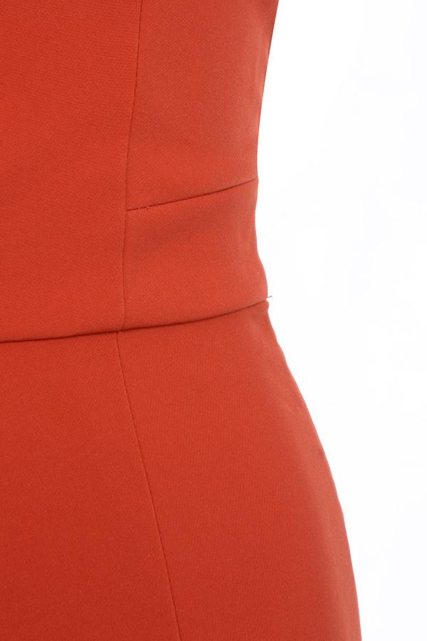 7e5da9ad67 Clothing   Jumpsuits    Natalja  Red V Plunge Jumpsuit