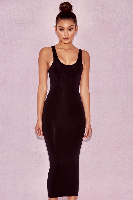 Clothing Bodycon Dresses Tomlin Black Midi Length