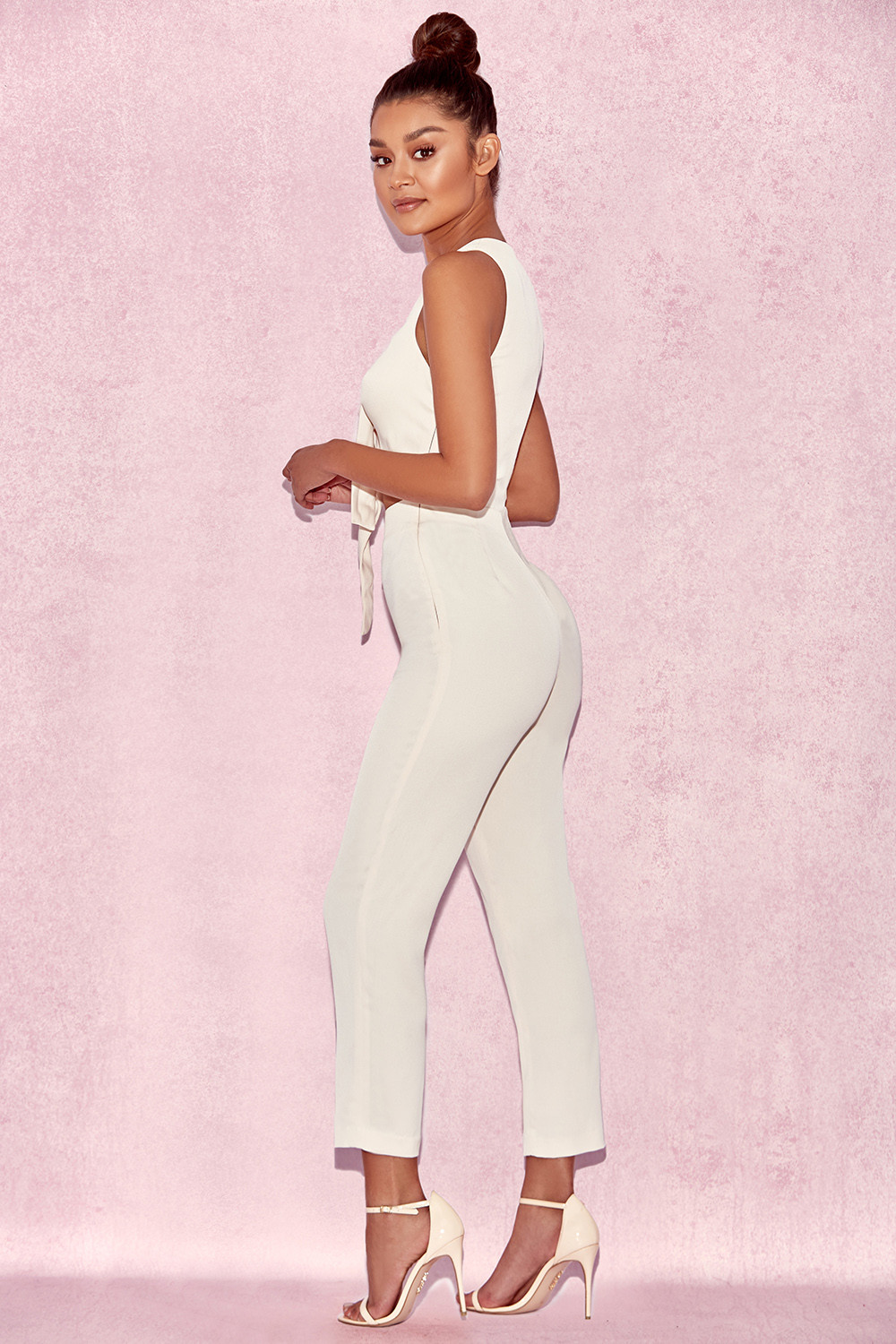 03b3364abe6 Goya Cream Crepe Knotted Front Jumpsuit. View larger image. View larger  image. View larger image