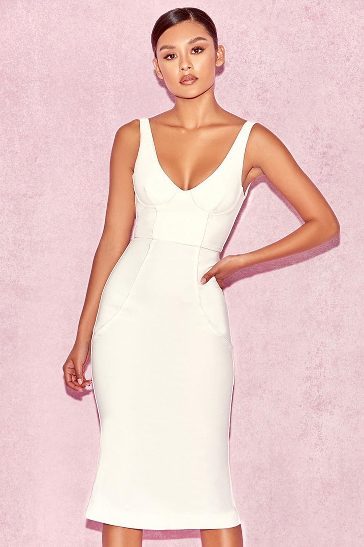 Midi Dresses White
