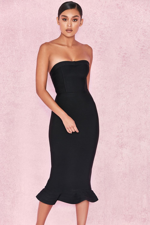 Clothing : Bandage Dresses : 'Fabrizia' Black Bandage ...
