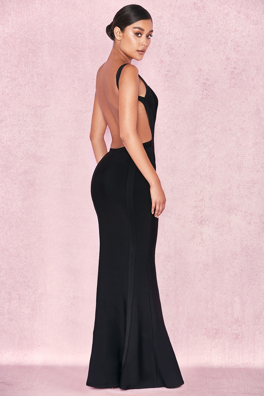 2136796b799 Clothing   Max Dresses    Ophelia  Black Backless Maxi Bandage Dress