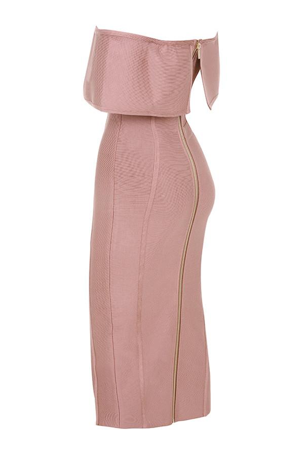 74a7176b95b7 Clothing : Bandage Dresses : 'Danae' Vintage Rose Off the Shoulder ...