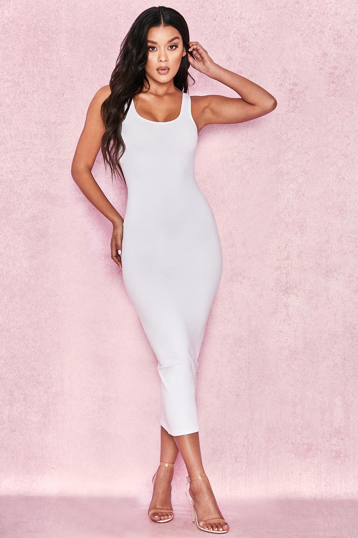 4b4fc6187921 Tomlin White Midi Length Vest Dress. View larger image. View larger image.  View larger image. View larger image