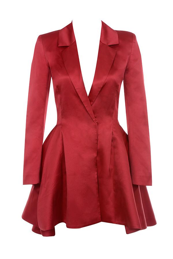 82580bb3455 Clothing   Structured Dresses    Simoneta  Red Satin Tailored Jacket ...