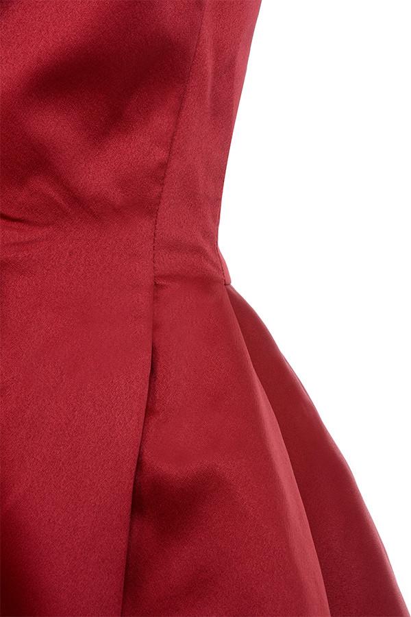 852e70615cd red simoneta dress. View larger image. Simoneta Red Satin Tailored Jacket  ...