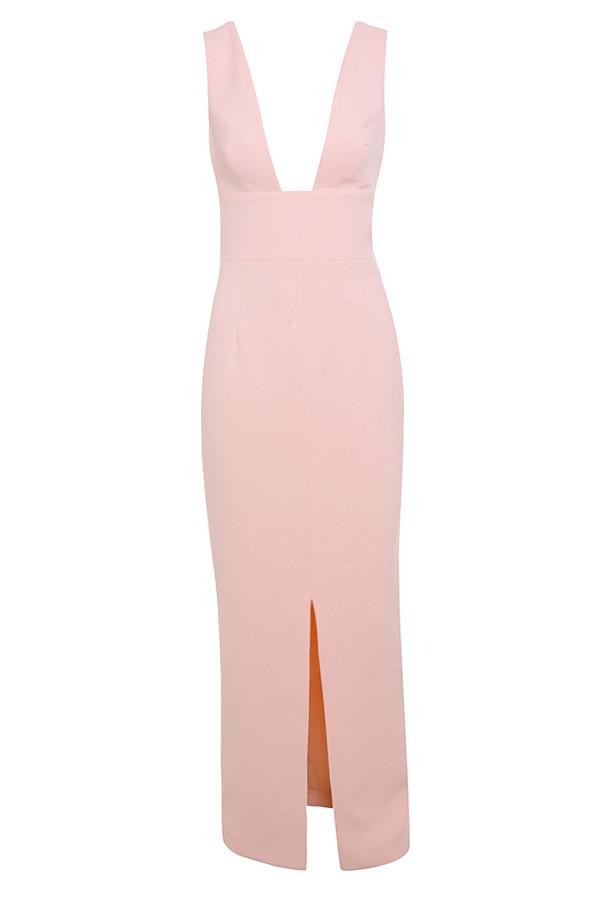 9605de821f8 Clothing   Max Dresses    Narelle  Baby Pink Plunge Neck Maxi Dress
