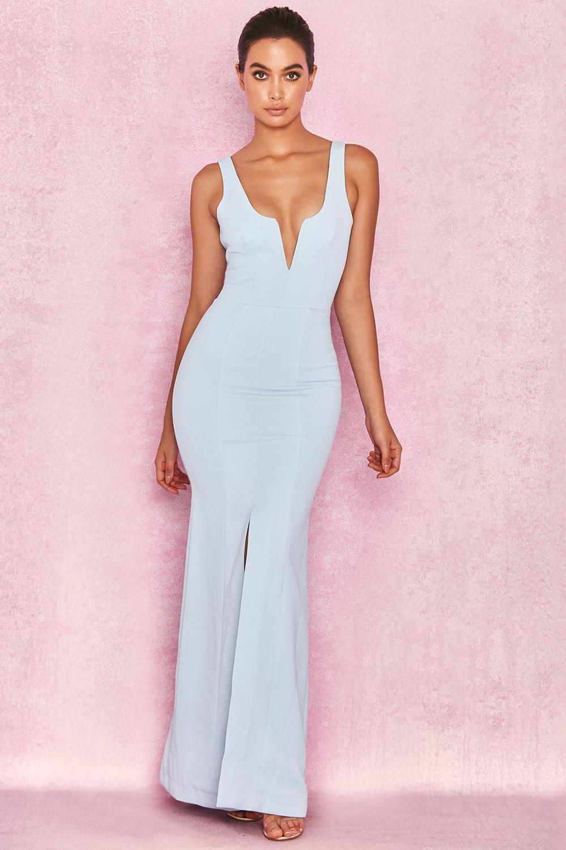 18d9af015a Clothing   Max Dresses    Macie  Powder Blue V Front Maxi Dress