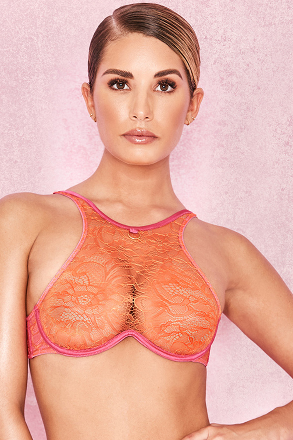 orange bra top