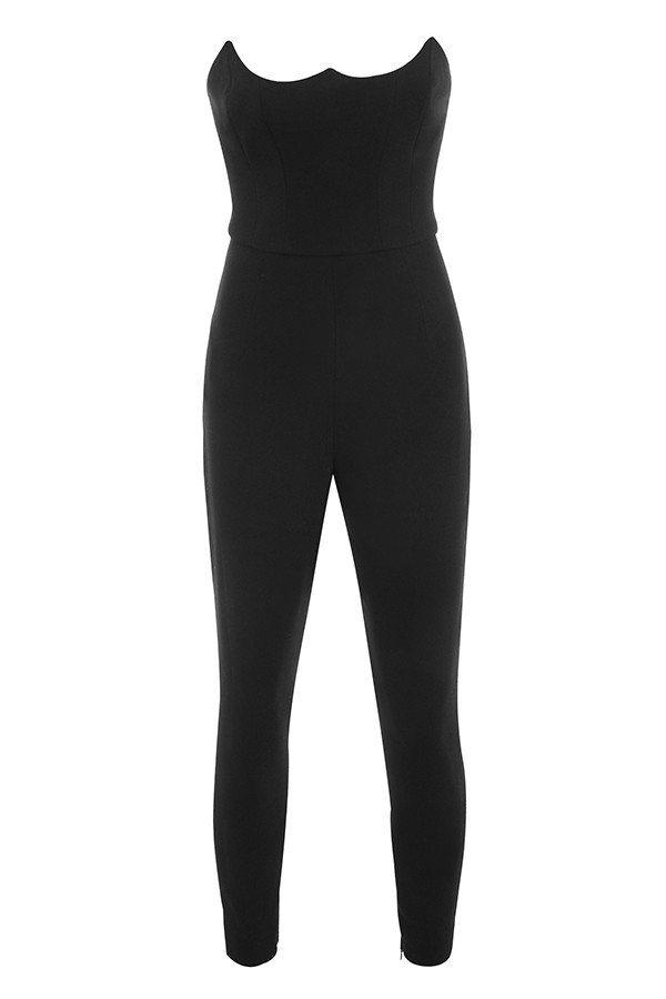82715a55dd46 Clothing   Jumpsuits    Milli  Black Crepe Corseted Jumpsuit