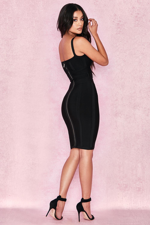 Clothing Bandage Dresses Belice Black Tie Waist