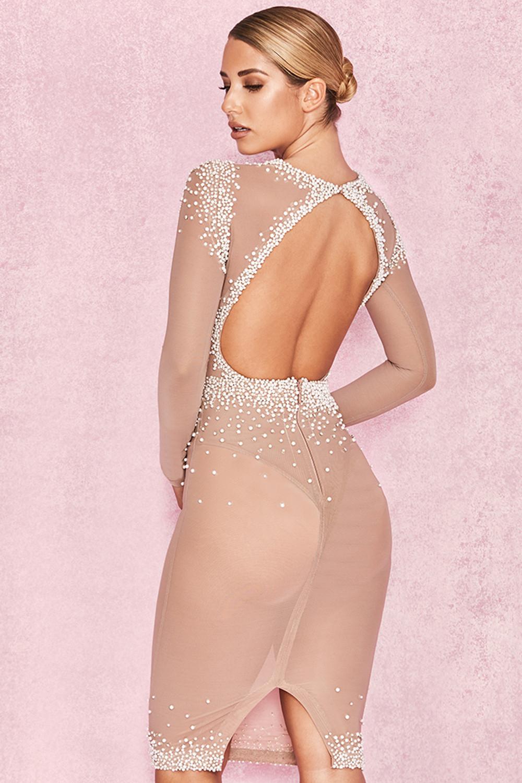 ad40ad1e1e ... color piel semitransparente bordado con perlas - Colección premium  Edición limitada. Ver imagen grande