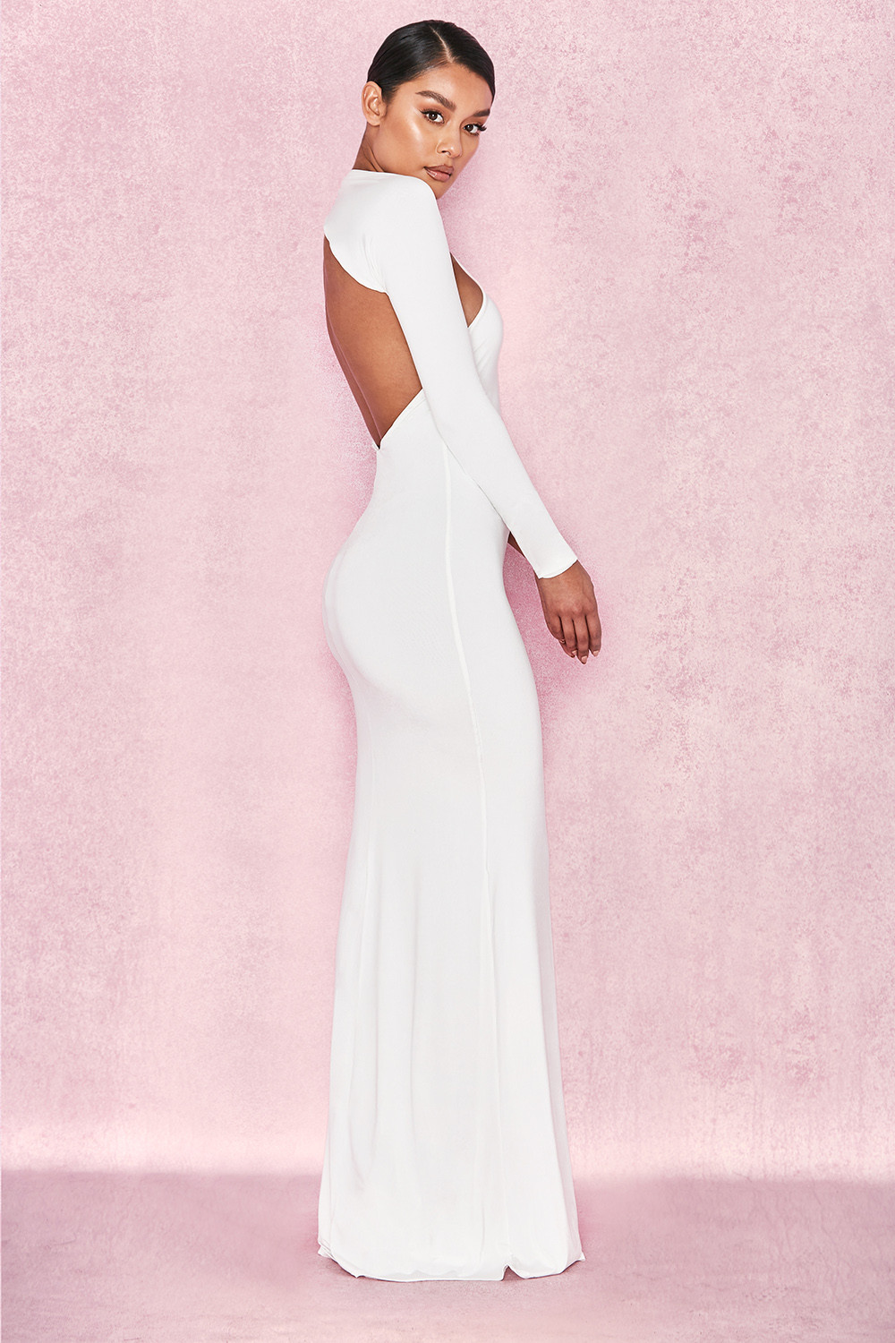f6b3152518c Clothing Max Dresses Merveille White Wrap Sleeve Maxi Dress -  Source. View  Larger Image