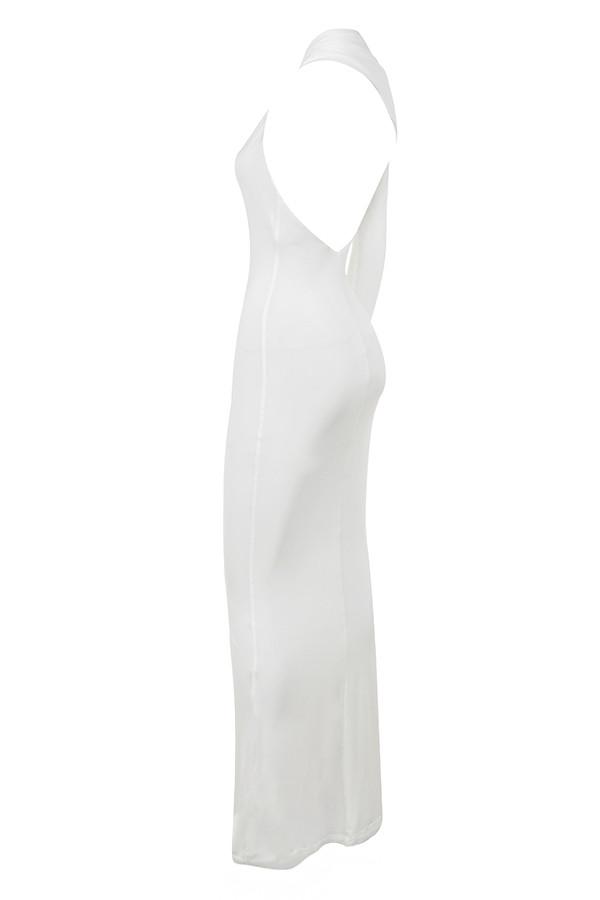 cb5d7a51a4625 Clothing : Max Dresses : 'Merveille' White Wrap Sleeve Maxi Dress