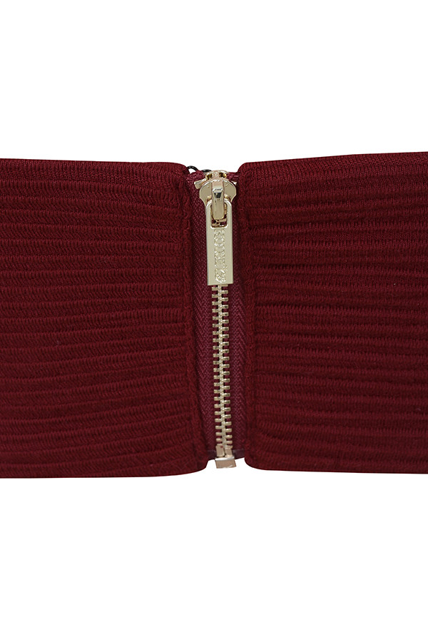 23231e4829dc4 burgundy manelle top. View larger image. Marnelle Burgundy Knot Front  Cropped ...