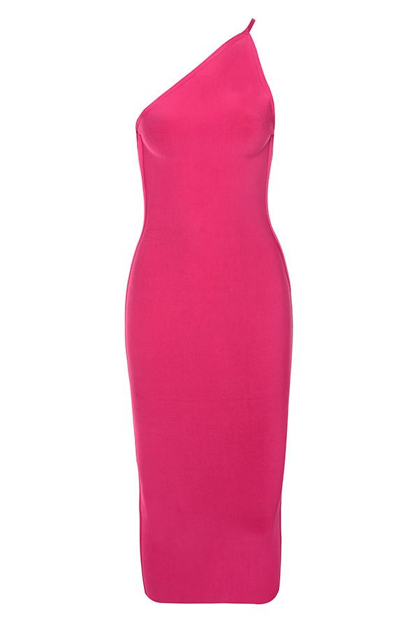 cdc8462241 Clothing   Bandage Dresses    Sasha  Hot Pink One Shoulder Bandage Dress