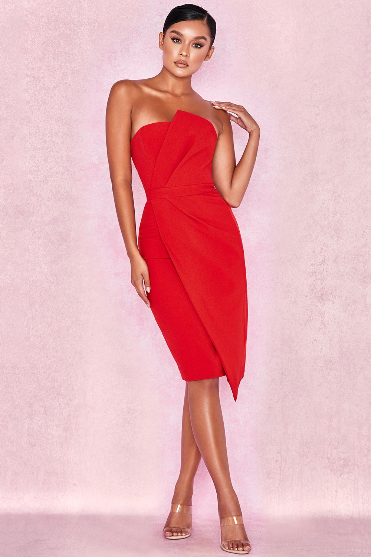 2ba9becce43 Uma Red Fold Front Mini Dress. View larger image. View larger image. View  larger image. View larger image. View larger image