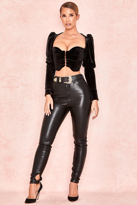 fbed8cdb3e Karla Black Velvet Puff Sleeve Corset. View larger image. View larger image