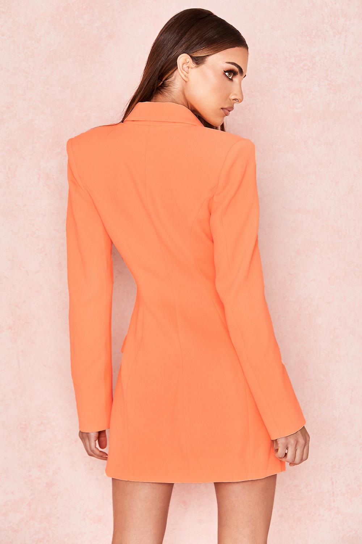 3f56c0b6483 Clothing   Jackets    Raven  Orange Crepe Blazer Dress