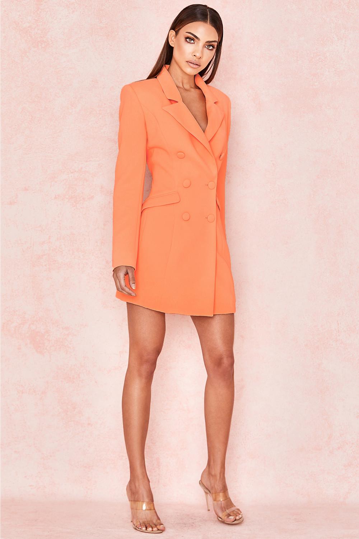 45a095338dd4 Raven Orange Crepe Blazer Dress. View larger image. View larger image