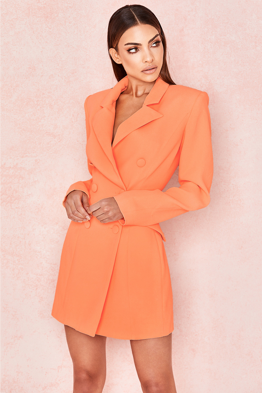 bcd47bb876bd Raven Orange Crepe Blazer Dress. View larger image. View larger image. View  larger image