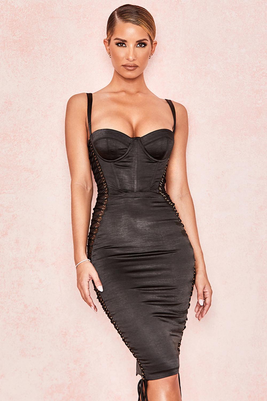Street zara bodycon dress with corset yorkton