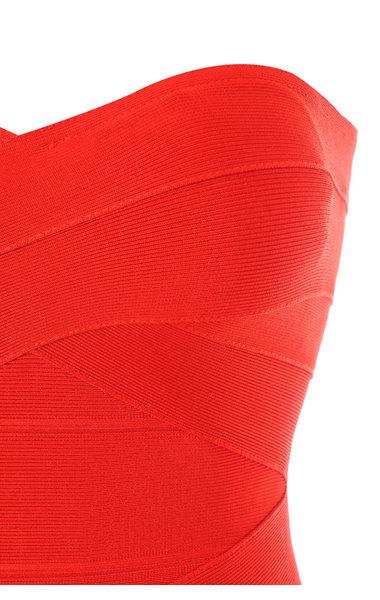 Leyla Red Bandage Dress