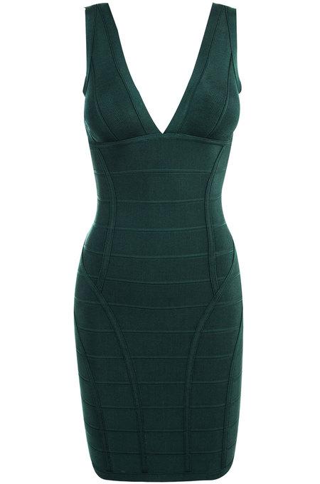 Jenna Evergreen Bandage Dress