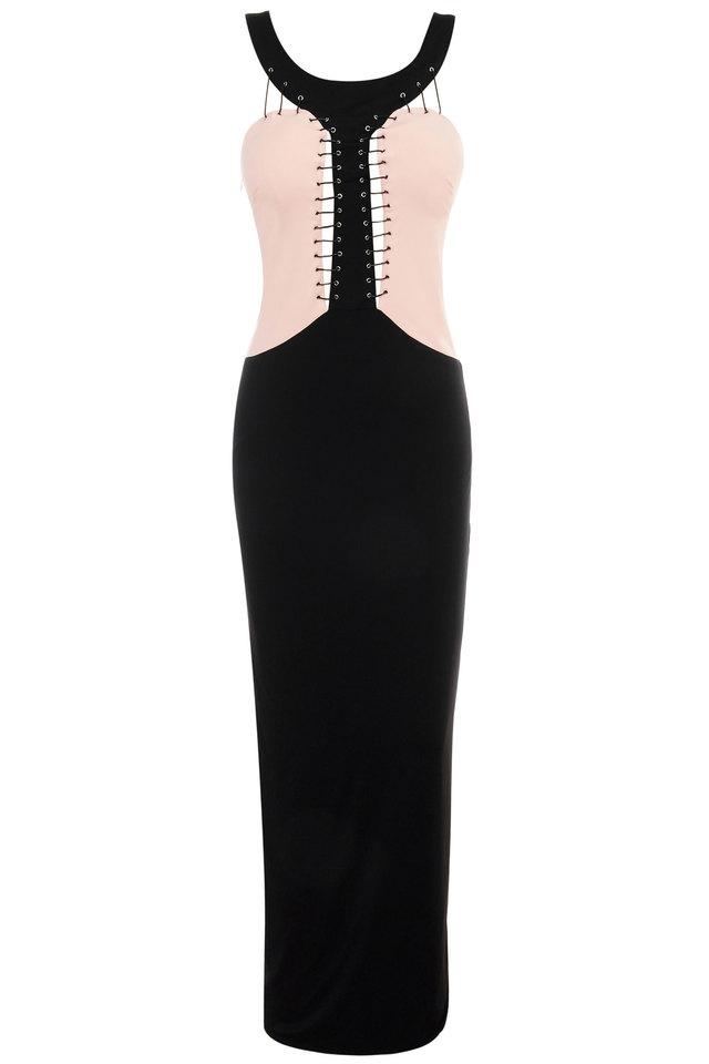 Reece Pink & Black Maxi Dress
