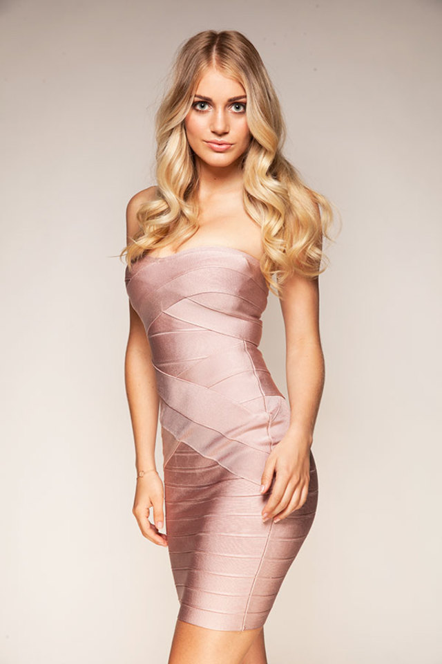 Leyla Nude Bandage Dress
