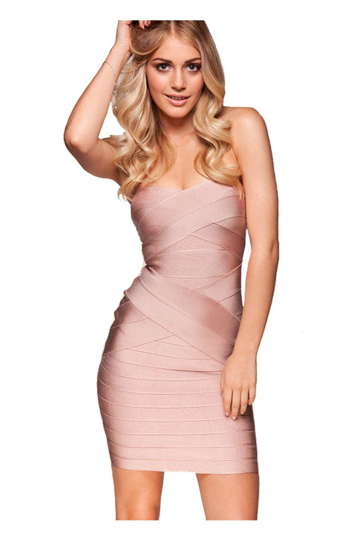 Leyla Nude Bandage Dress
