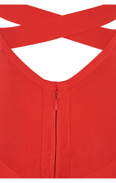 Jennifer Red Bandage Dress