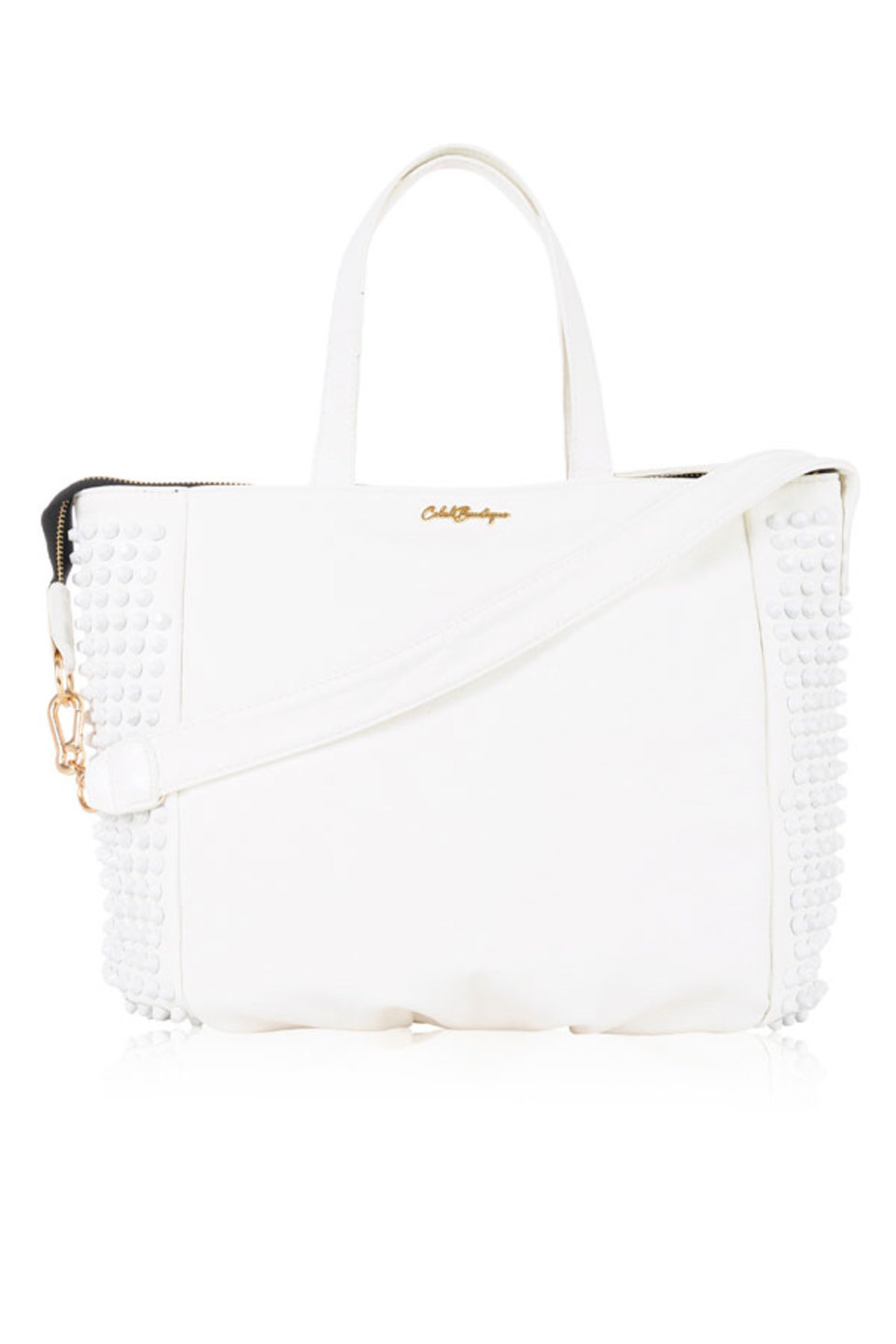 White Rider Studded Tote Bag