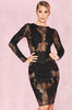 Nolita Black Stretch Lace Long Sleeve Dress
