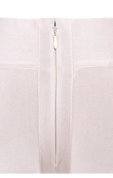 Bandage skirt with fluted hem