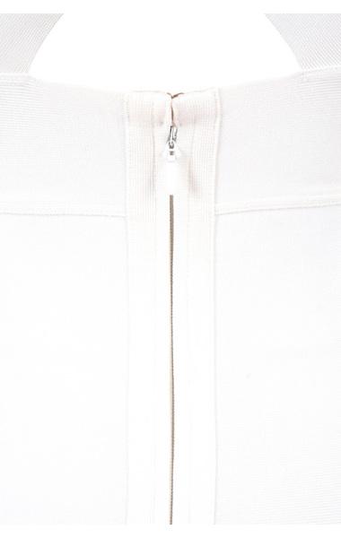 the sacha bandage dress in white